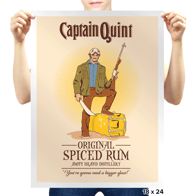 Captain Quint Spiced Rum - Prints - Posters - RIPT Apparel