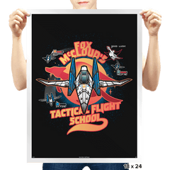 Arwing Flight School Exclusive - Prints - Posters - RIPT Apparel
