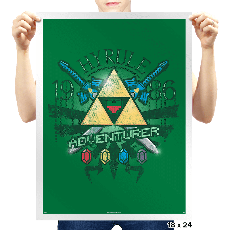 Hyrule Adventurer Exclusive - Prints - Posters - RIPT Apparel