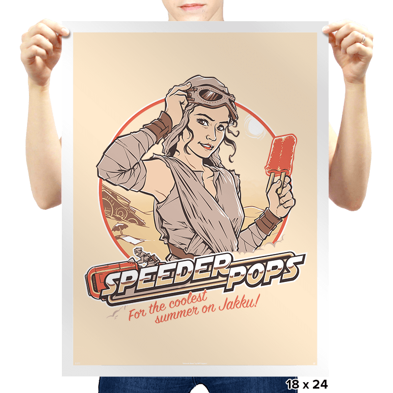 Speeder Pops Exclusive - Prints - Posters - RIPT Apparel