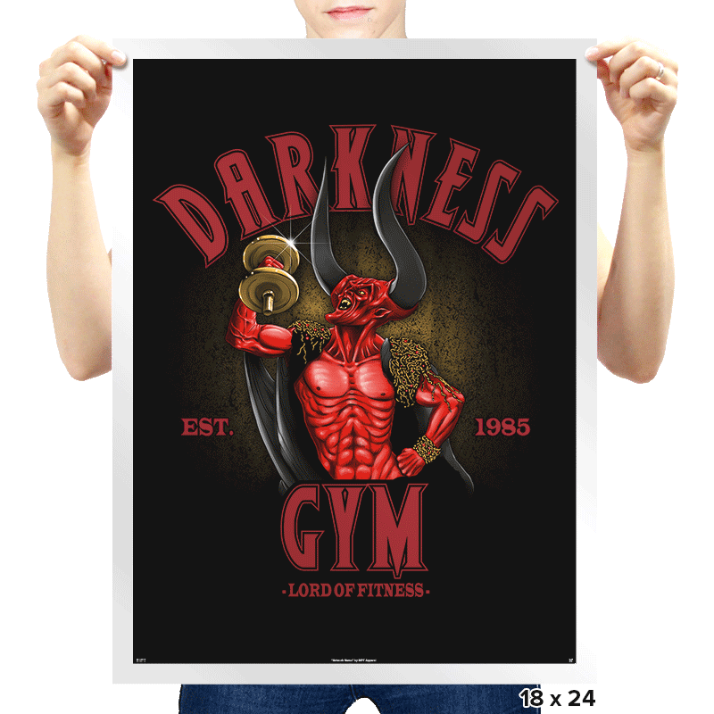 Darkness Gym - Prints - Posters - RIPT Apparel
