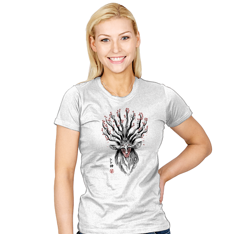 The Deer God sumi-e - Womens - T-Shirts - RIPT Apparel