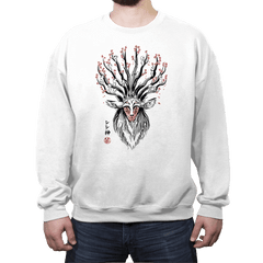 The Deer God sumi-e - Crew Neck - Crew Neck - RIPT Apparel
