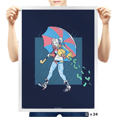 Salty Squad Girl - Prints - Posters - RIPT Apparel