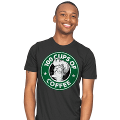100 Cups of Coffee - Mens - T-Shirts - RIPT Apparel