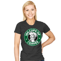 100 Cups of Coffee - Womens - T-Shirts - RIPT Apparel