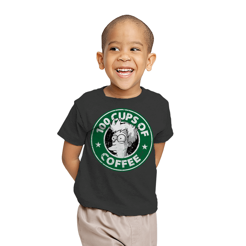 100 Cups of Coffee - Youth - T-Shirts - RIPT Apparel