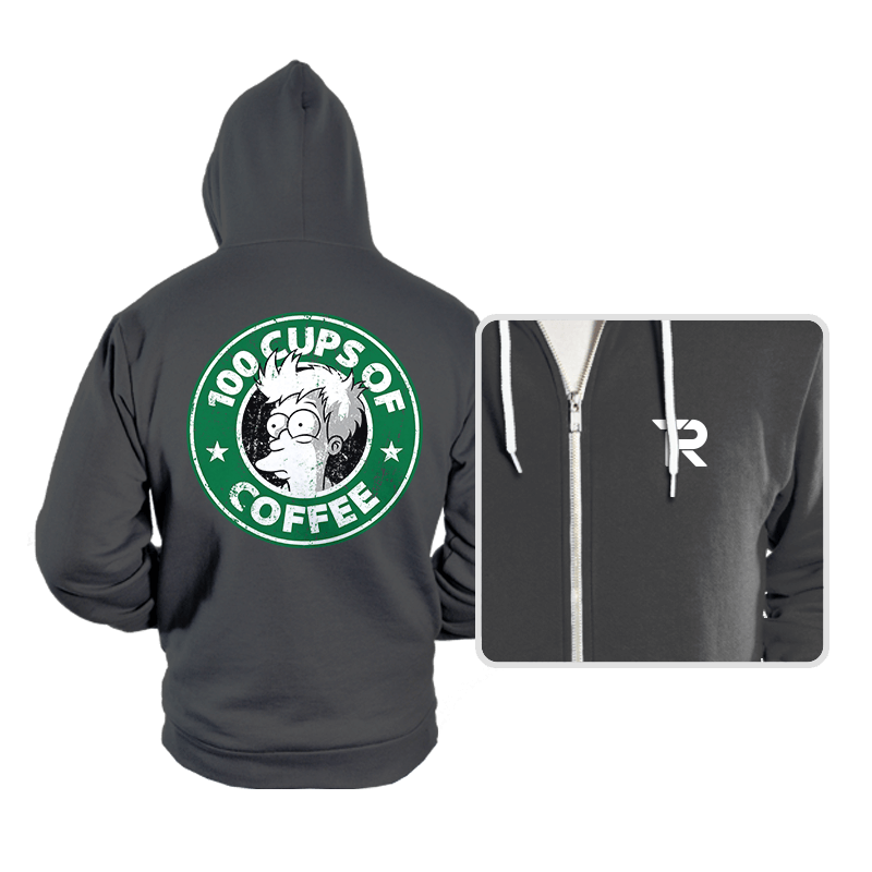 100 Cups of Coffee - Hoodies - Hoodies - RIPT Apparel