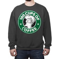100 Cups of Coffee - Crew Neck - Crew Neck - RIPT Apparel