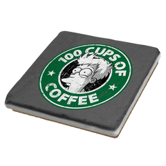 100 Cups of Coffee - Coasters - Coasters - RIPT Apparel