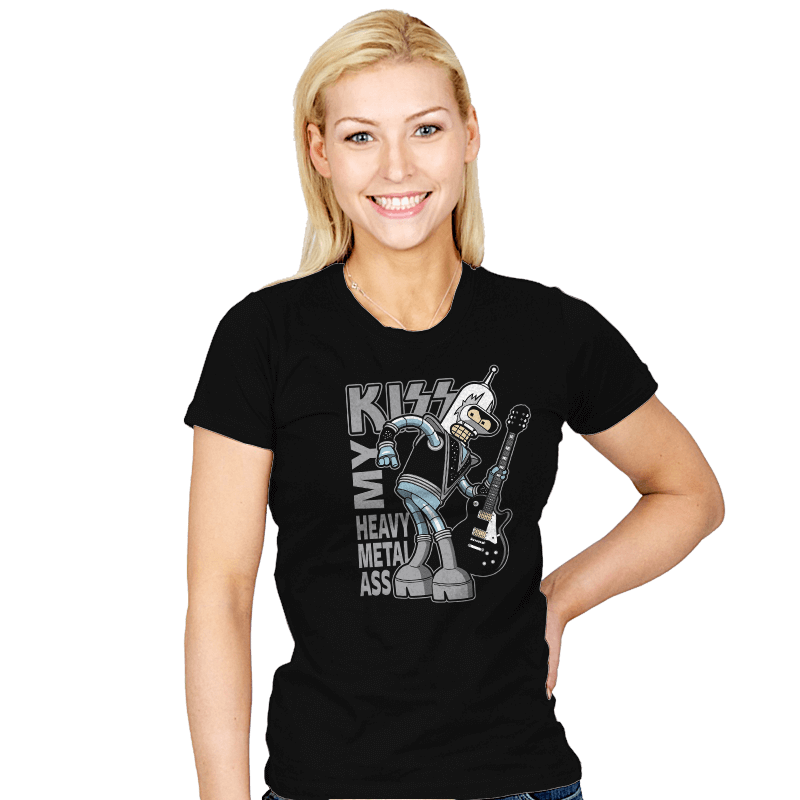 Heavy Metal Ass - Womens - T-Shirts - RIPT Apparel