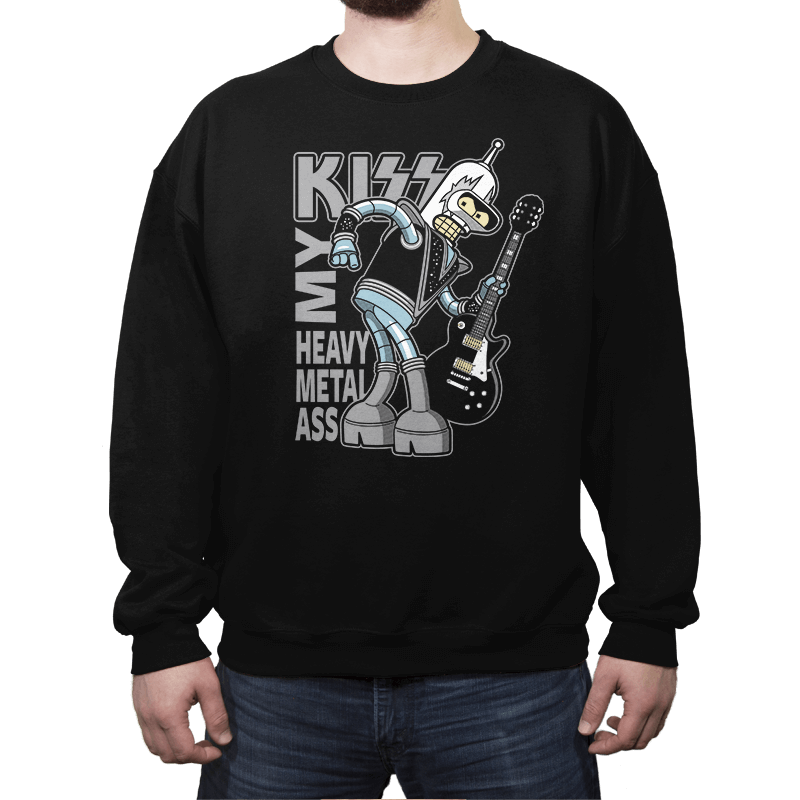 Heavy Metal Ass - Crew Neck - Crew Neck - RIPT Apparel