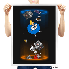 Alice Through The Portal - Prints - Posters - RIPT Apparel