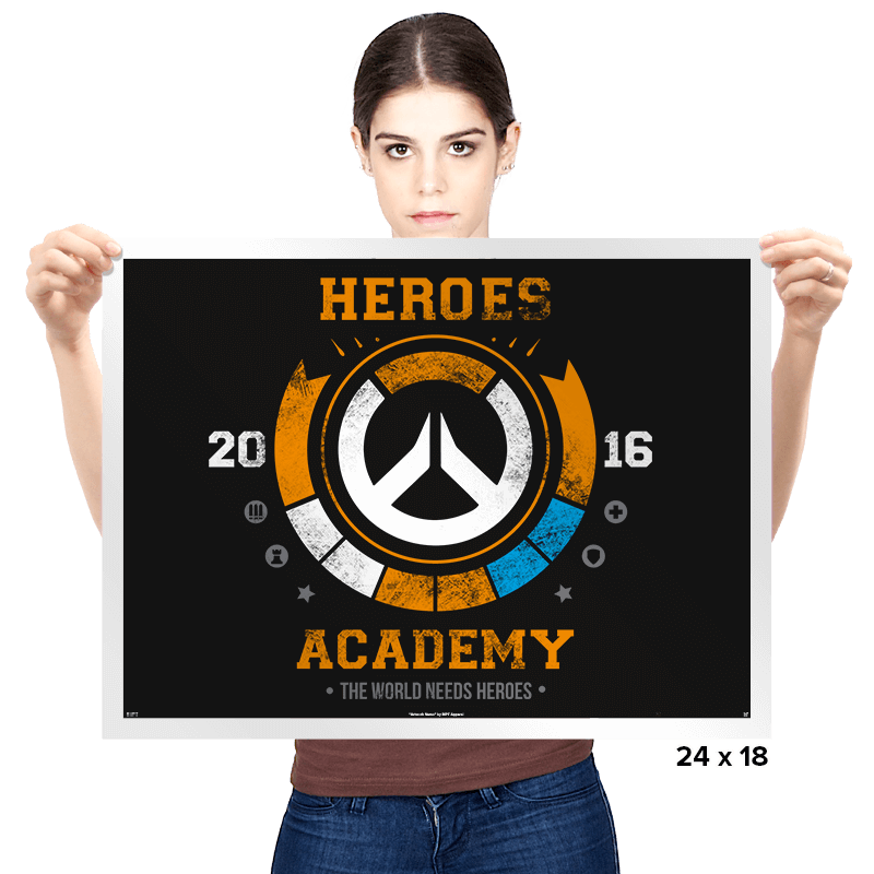 Heroes Academy - Prints - Posters - RIPT Apparel