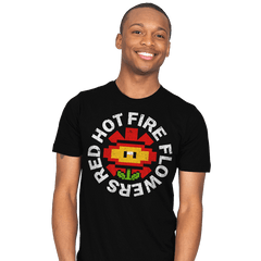 Red Hot Fire Flowers - Mens - T-Shirts - RIPT Apparel