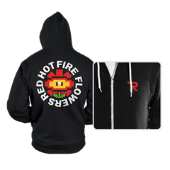 Red Hot Fire Flowers - Hoodies - Hoodies - RIPT Apparel