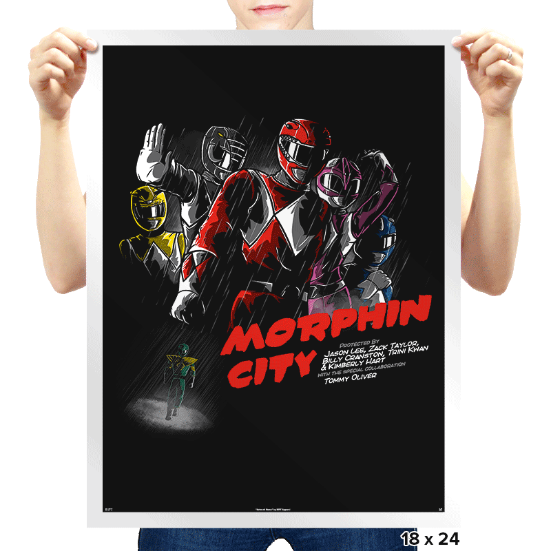 Morphin City - Prints - Posters - RIPT Apparel