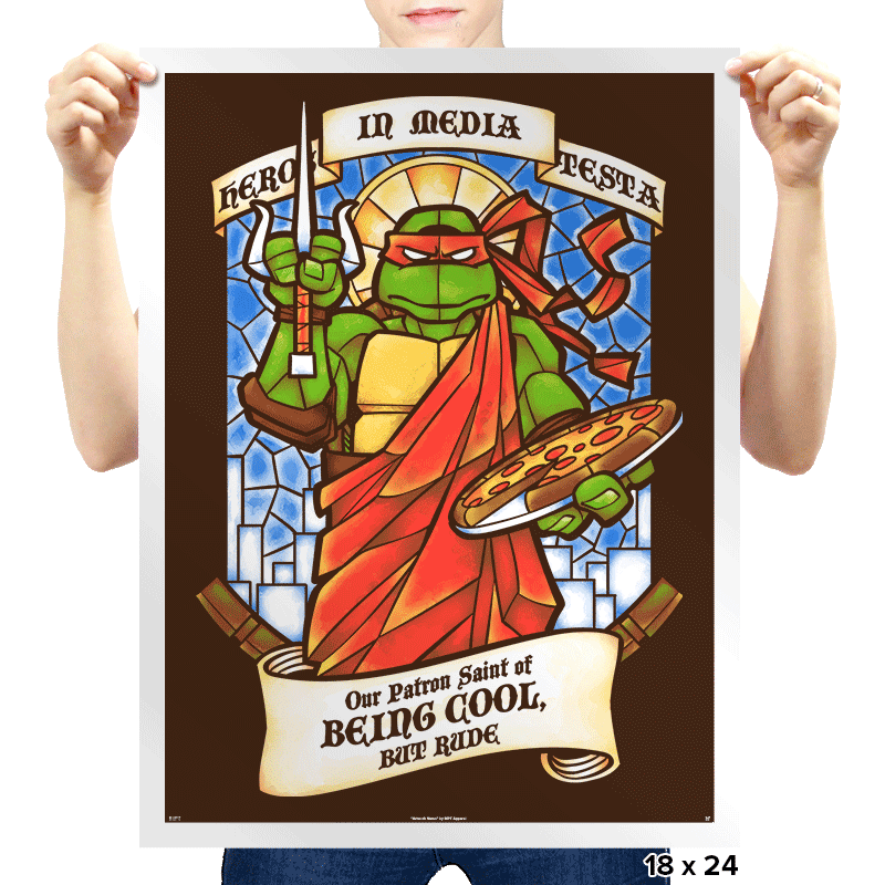 Our Saint of Being Cool, But Rude - Prints - Posters - RIPT Apparel