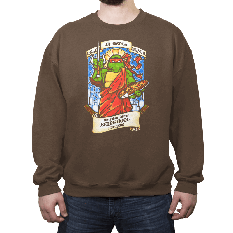 Our Saint of Being Cool, But Rude - Crew Neck - Crew Neck - RIPT Apparel