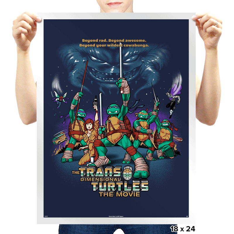 The Trans-Dimensional Turtles - Prints - Posters - RIPT Apparel