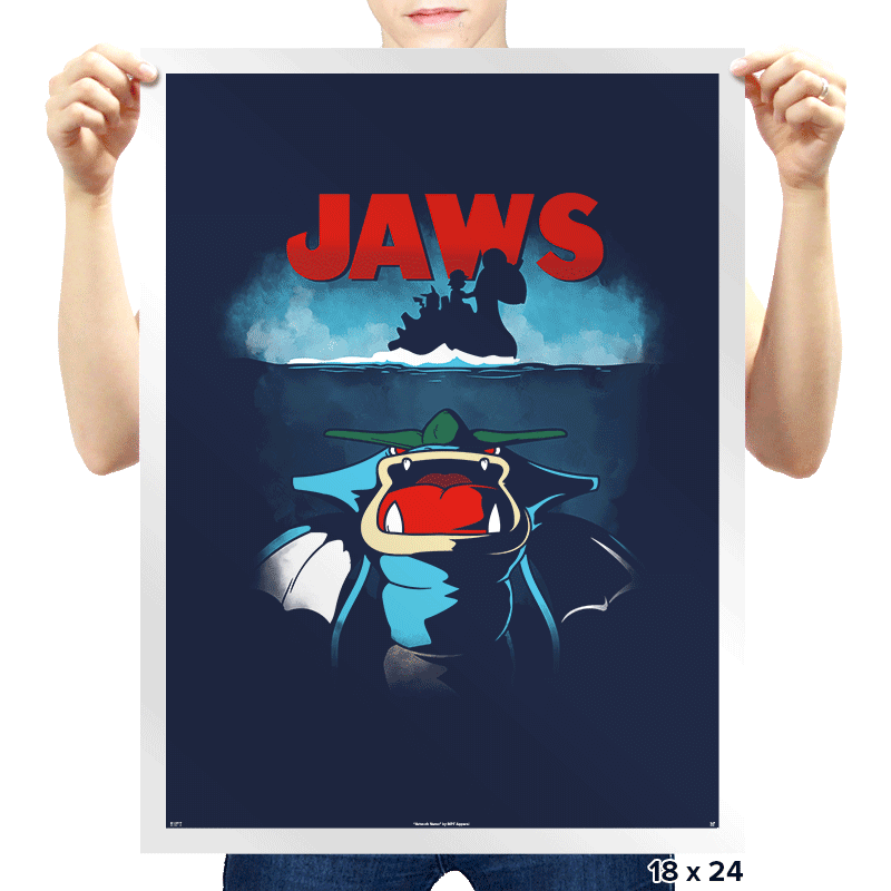 Poke Jaws - Prints - Posters - RIPT Apparel