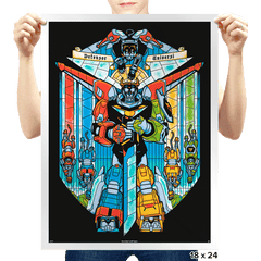 Stained Glass Defender - Prints - Posters - RIPT Apparel