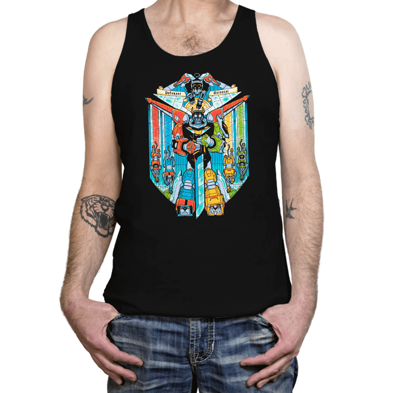 Stained Glass Defender - Tanktop - Tanktop - RIPT Apparel