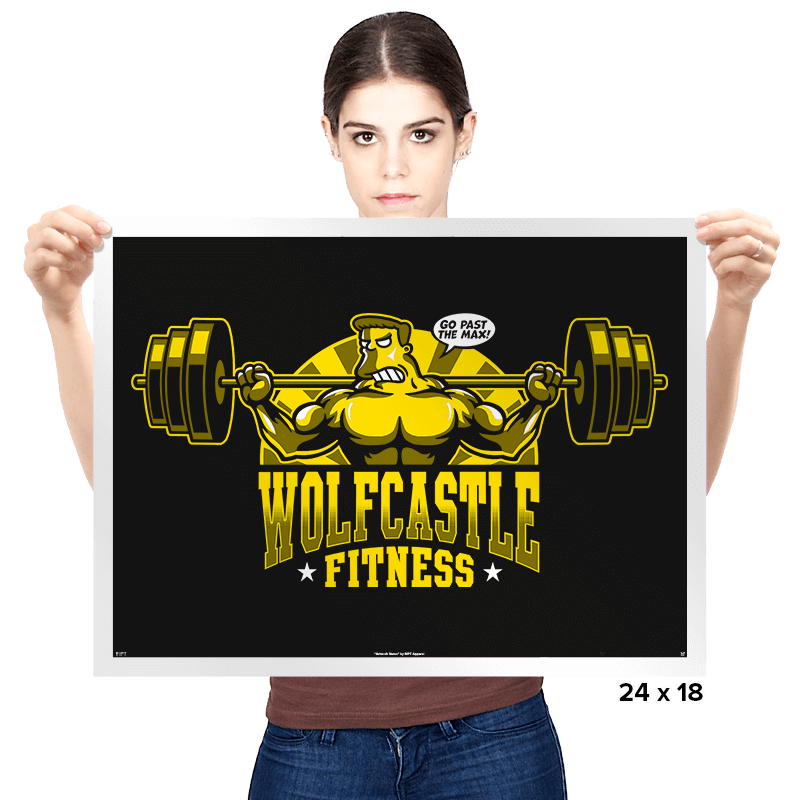 Wolfcastle Fitness - Prints - Posters - RIPT Apparel