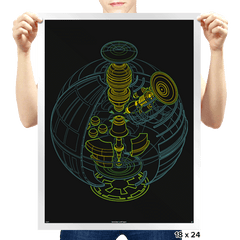 Anatomy of a Space Station - Prints - Posters - RIPT Apparel
