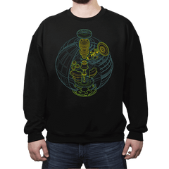 Anatomy of a Space Station - Crew Neck - Crew Neck - RIPT Apparel