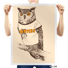 Original Hooter - Prints - Posters - RIPT Apparel