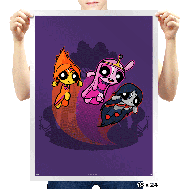 Adventure-Puff Girls - Uprising - Prints - Posters - RIPT Apparel