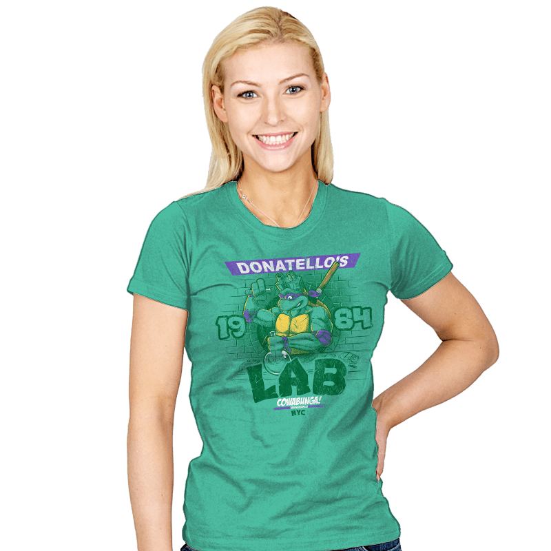 Donatello's Lab - Womens - T-Shirts - RIPT Apparel