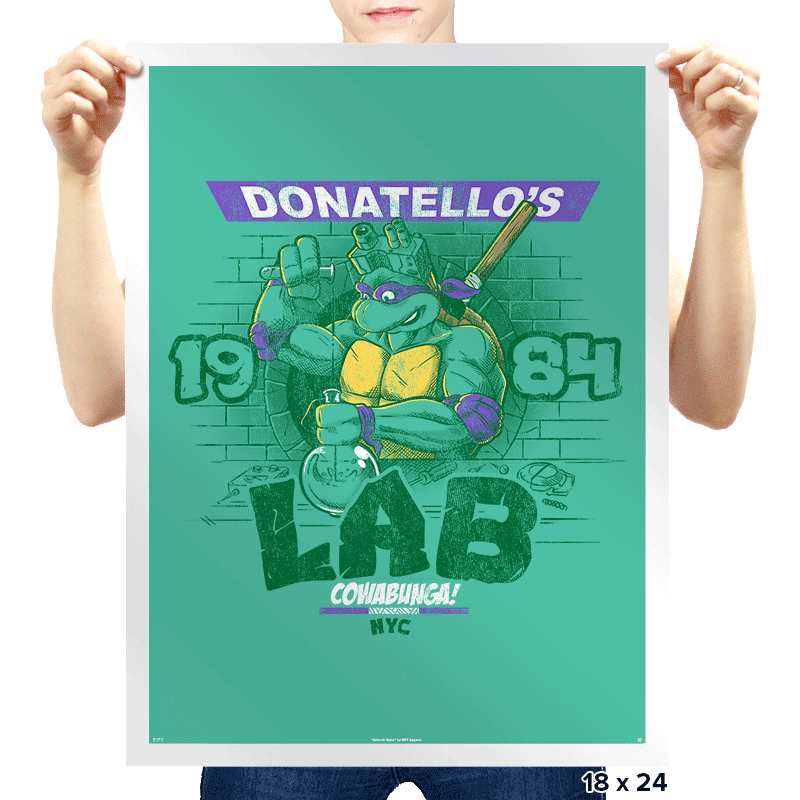 Donatello's Lab - Prints - Posters - RIPT Apparel