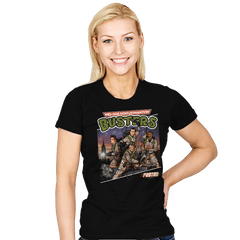 Mid-Age Genius Phantom Busters - Womens - T-Shirts - RIPT Apparel