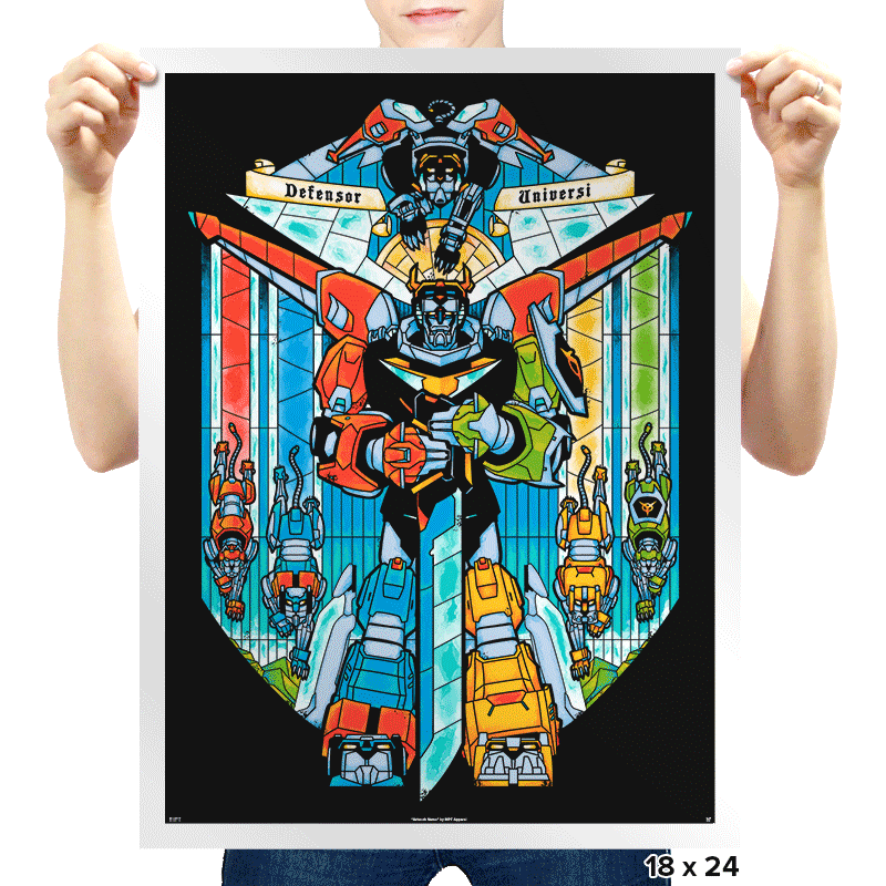 Stained Glass Defender Exclusive - Prints - Posters - RIPT Apparel