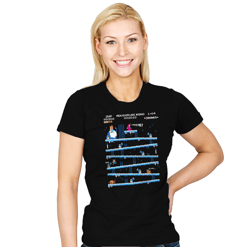 Adventure Kong Reprint - Womens - T-Shirts - RIPT Apparel