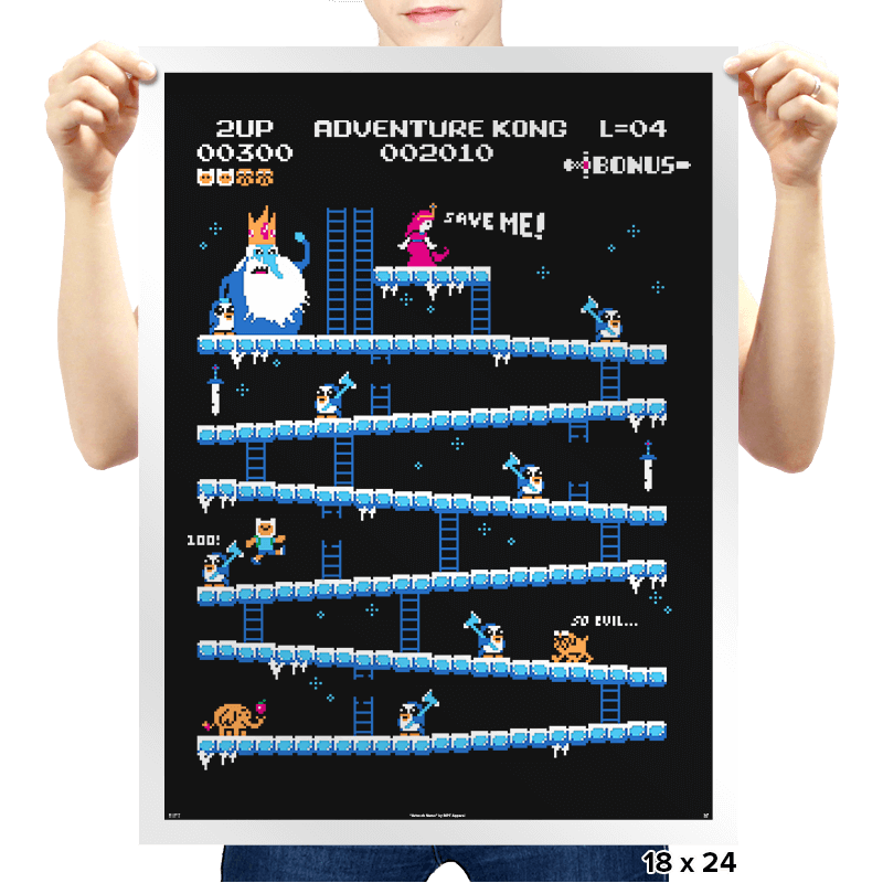 Adventure Kong Reprint - Prints - Posters - RIPT Apparel