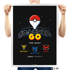 Retro GO - Prints - Posters - RIPT Apparel