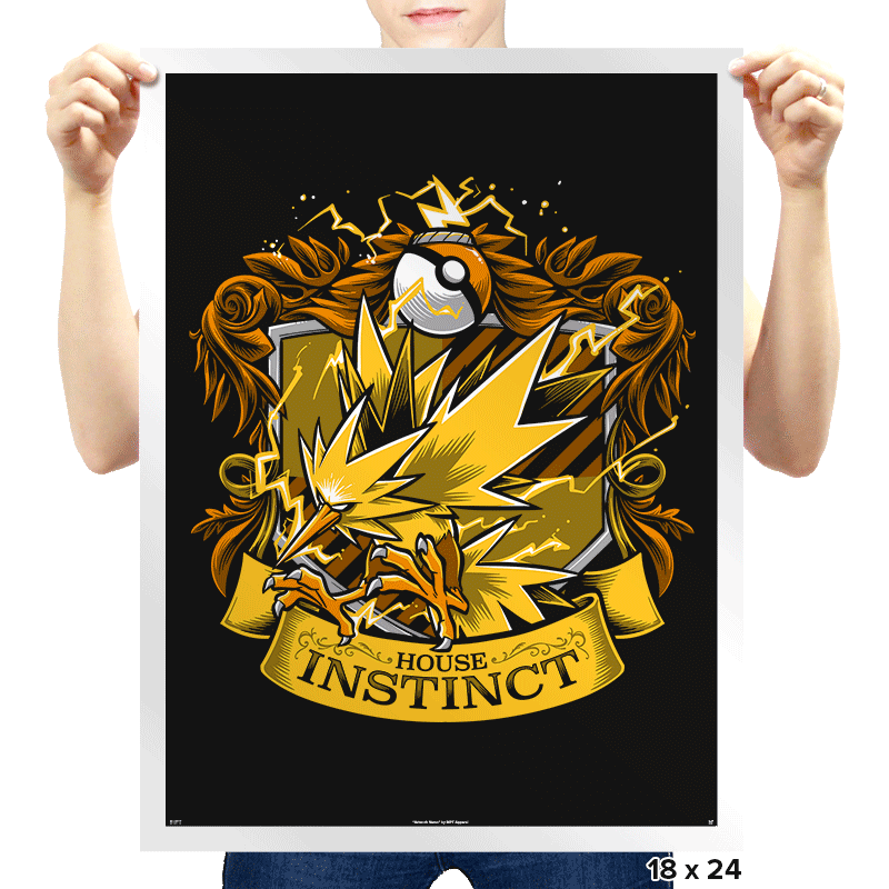 House Instinct - Zapplepuff - Prints - Posters - RIPT Apparel