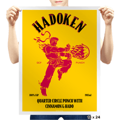 Hadoken Whiskey Exclusive - Prints - Posters - RIPT Apparel