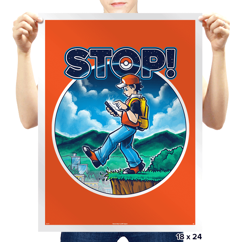 PokeSTOP! Exclusive - Prints - Posters - RIPT Apparel