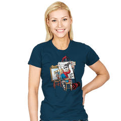 Triple Harley Portrait - Womens - T-Shirts - RIPT Apparel