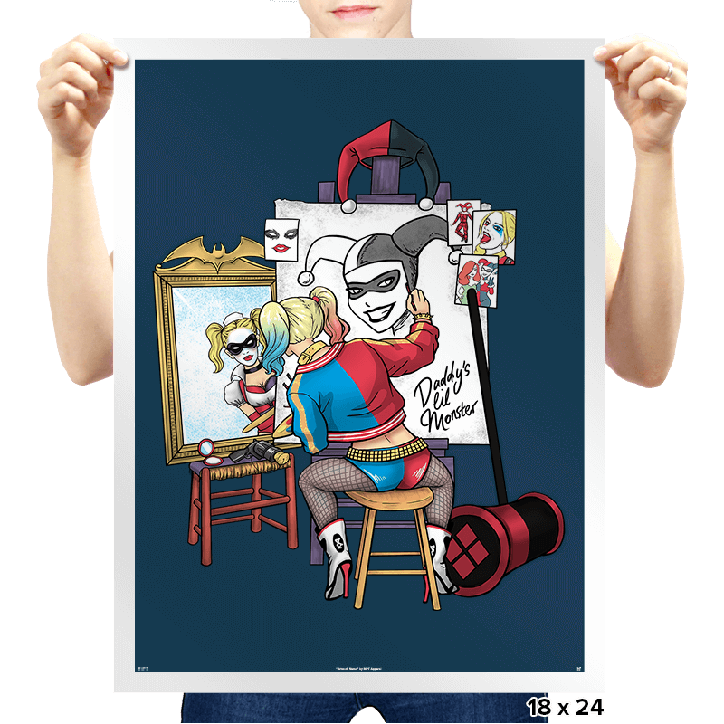 Triple Harley Portrait - Prints - Posters - RIPT Apparel
