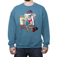 Triple Harley Portrait - Crew Neck - Crew Neck - RIPT Apparel