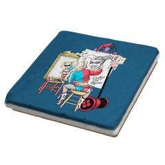Triple Harley Portrait - Coasters - Coasters - RIPT Apparel