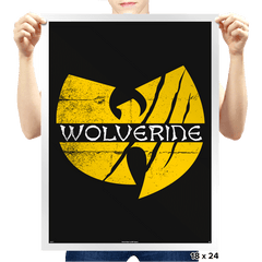Wu-verine - Prints - Posters - RIPT Apparel