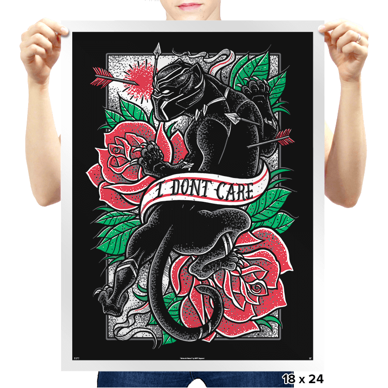I DON'T CARE - Prints - Posters - RIPT Apparel