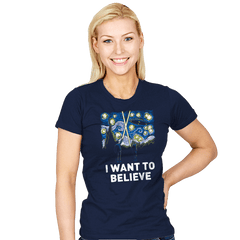 Starry Files - Womens - T-Shirts - RIPT Apparel