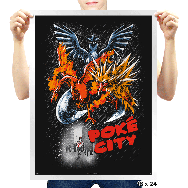 Poke City - Prints - Posters - RIPT Apparel